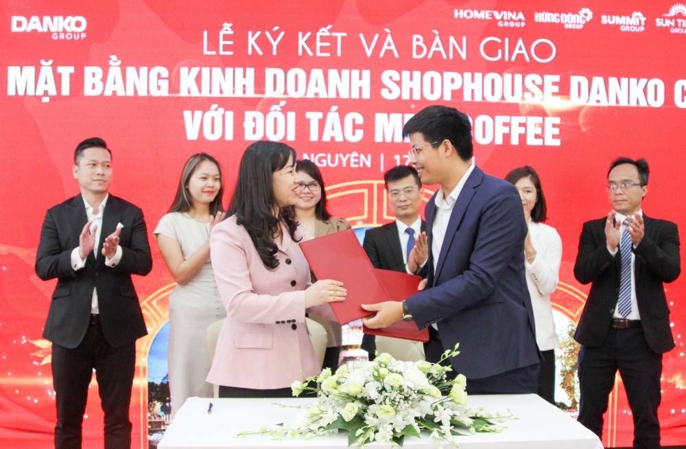 Chính thức ký kết và bàn giao mặt bằng kinh doanh shophouse Danko City