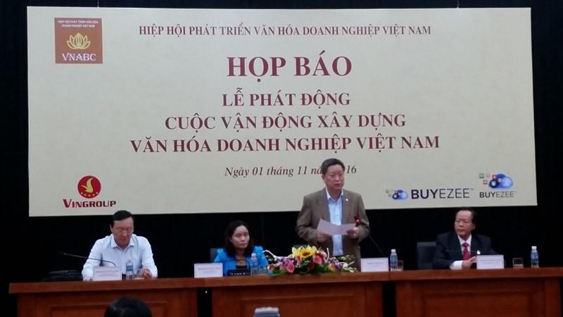"""Phát động cuộc vận động """"Xây dựng văn hóa doanh nghiệp Việt Nam"""""""