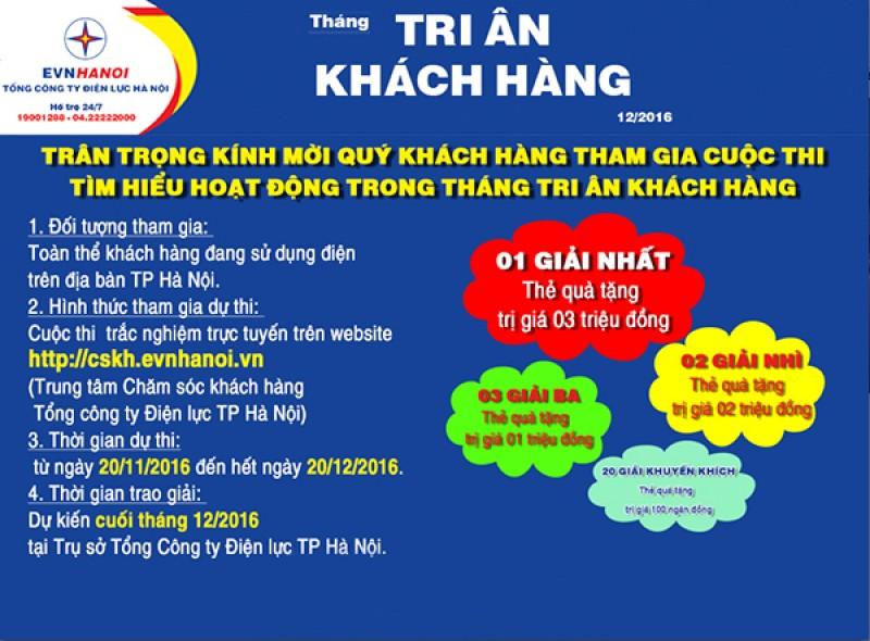 EVN HANOI phát động cuộc thi Tri ân khách hàng