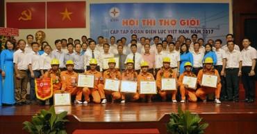 Đạt giải Nhất toàn đoàn tại Hội thi thợ giỏi do EVN tổ chức