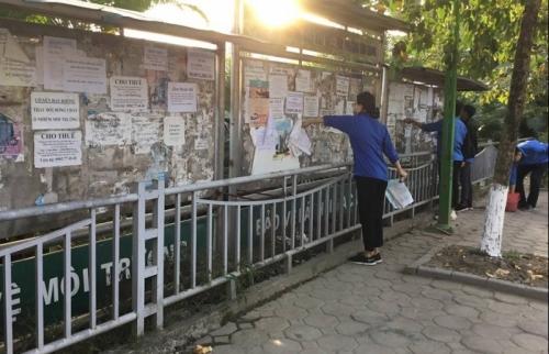 Phường Kim Giang: Ra quân xử lý vi phạm trật tự an toàn giao thông, đô thị