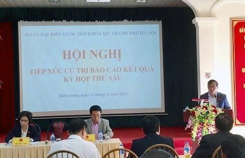 Đại biểu Quốc hội TP Hà Nội: Phát huy vai trò của người đại biểu dân cử