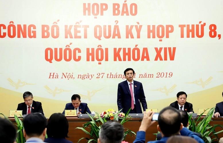 Quốc hội thông qua 11 Luật, 17 Nghị quyết
