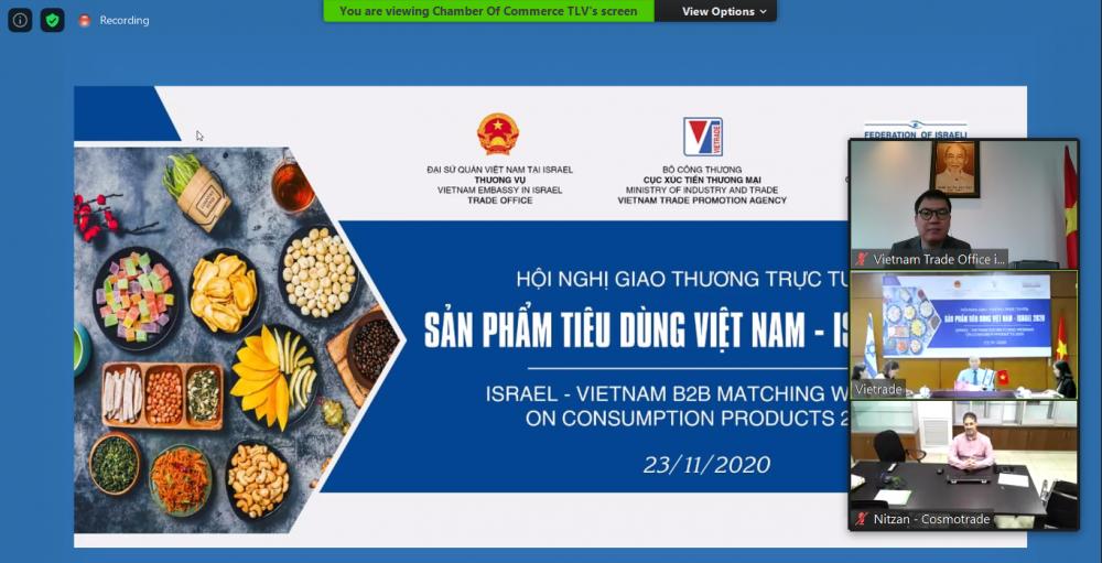 Doanh nghiệp Israel quan tâm lớn đến sản phẩm tiêu dùng Việt Nam