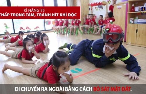Cần dạy trẻ 7 kỹ năng thoát hiểm khi xảy ra cháy nổ