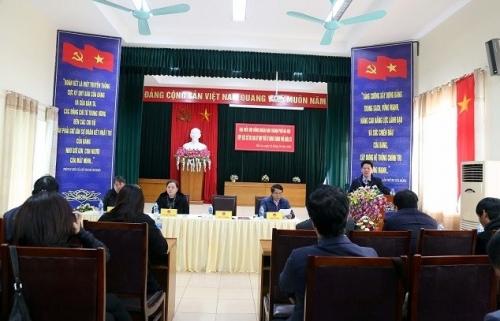 Chủ tịch HĐND Thành phố Nguyễn Thị Bích Ngọc tiếp xúc cử tri tại quận Hà Đông