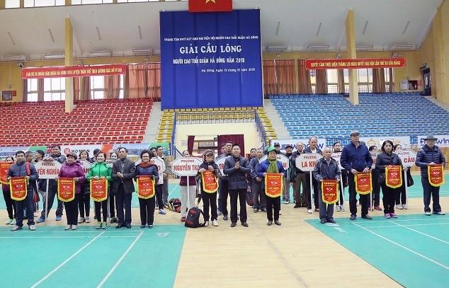 100 vận động viên tham dự Giải cầu lông Người cao tuổi năm 2018