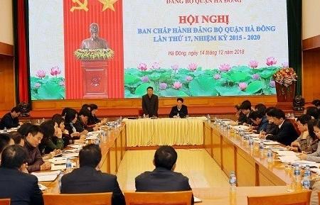 Quận Hà Đông tổ chức Hội nghị Ban Chấp hành Đảng bộ lần thứ 17 khóa XX