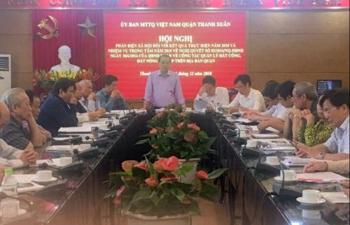 Tổ chức hội nghị phản biện xã hội về quản lý đất công, đất nông nghiệp