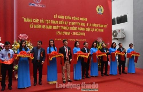 Gắn biển Trạm biến áp 110KV Yên Phụ - E1.8 thành trạm GIS