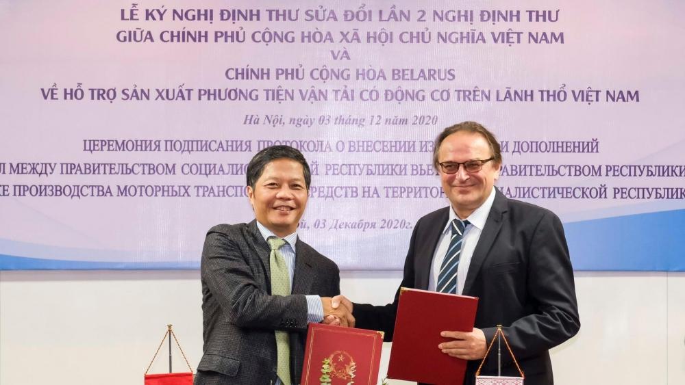 Hỗ trợ sản xuất phương tiện vận tải có động cơ trên lãnh thổ Việt Nam