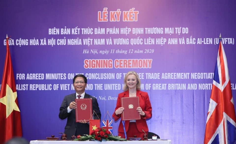 Việt Nam - Vương Quốc Anh kết thúc đàm phán Hiệp định Thương mại tự do