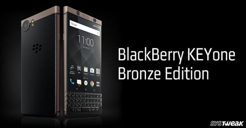 BlackBerry: Ra mắt KeyOne Bronze Edition màu đồng lạ mắt