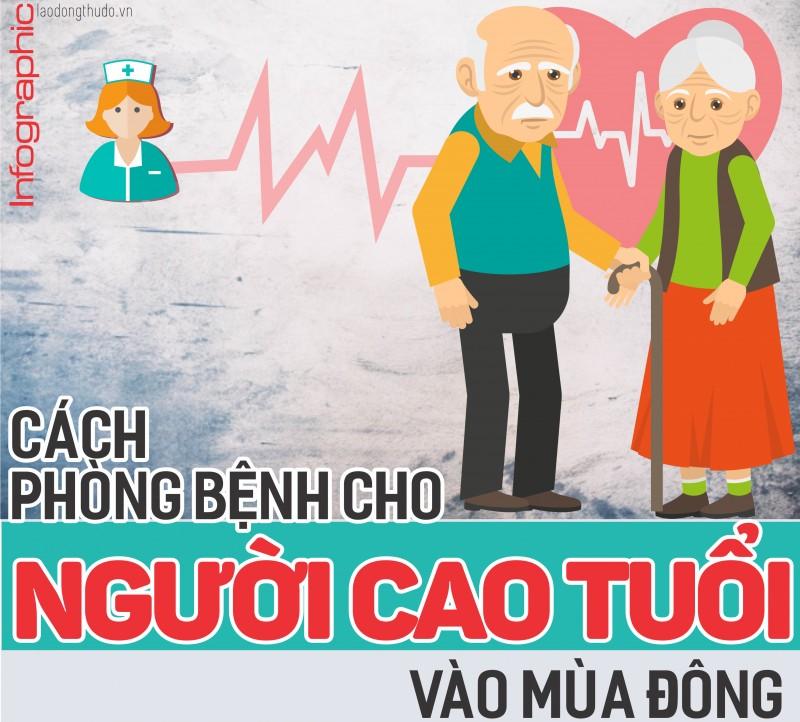Infographic: Cách phòng bệnh cho người cao tuổi vào mùa đông
