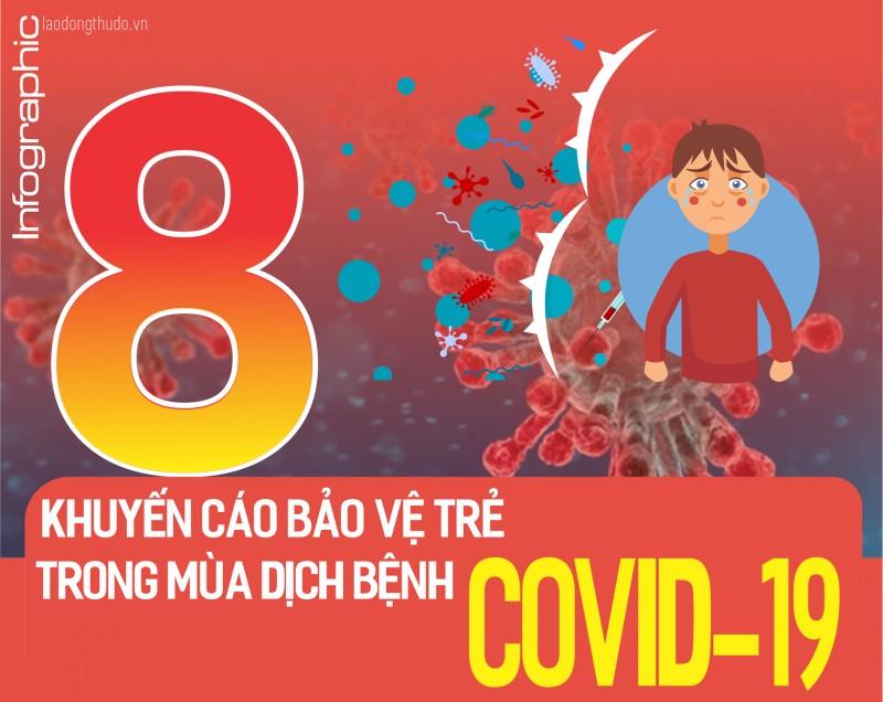 Infographic: 8 khuyến cáo bảo vệ trẻ trong mùa dịch bệnh covid-19