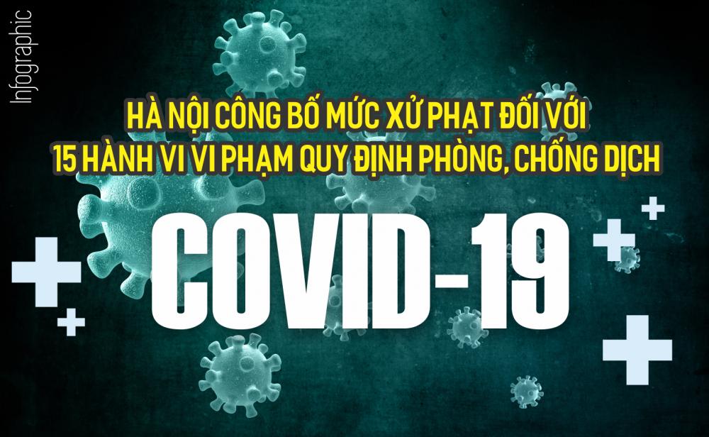 [INFOGRAPHIC] 15 hành vi vi phạm phòng, chống dịch Covid-19 sẽ bị phạt hành chính đến xử lý hình sự cần biết
