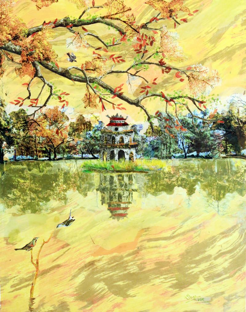 Người tìm vẻ đẹp Hà Nội qua tranh vải