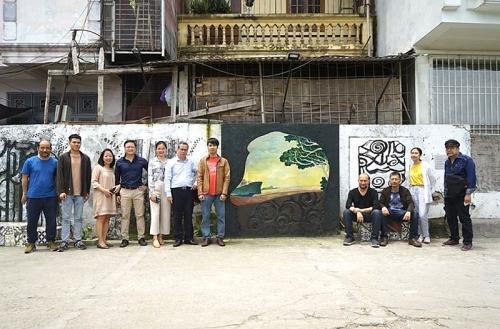 Độc đáo không gian nghệ thuật ven sông Hồng