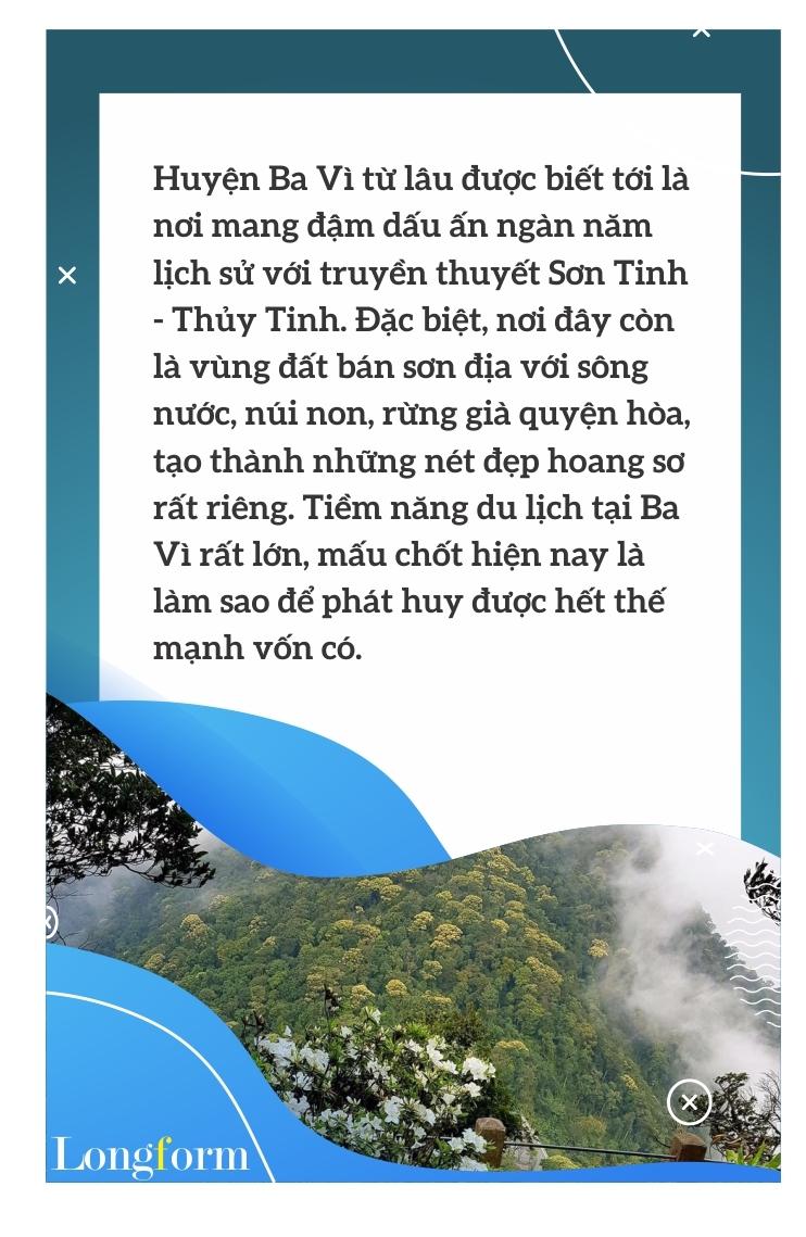 Đánh thức tiềm năng du lịch dưới chân núi Tản