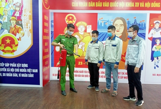 Lực lượng phòng cháy, chữa cháy Thủ đô: Sẵn sàng đảm bảo cho ngày bầu cử an toàn