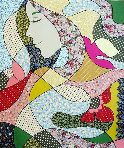 Tranh ghép vải: Mảnh ghép mĩ thuật  hiện đại hoàn mỹ