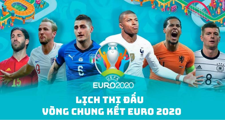 Lịch thi đấu Vòng chung kết Euro 2020