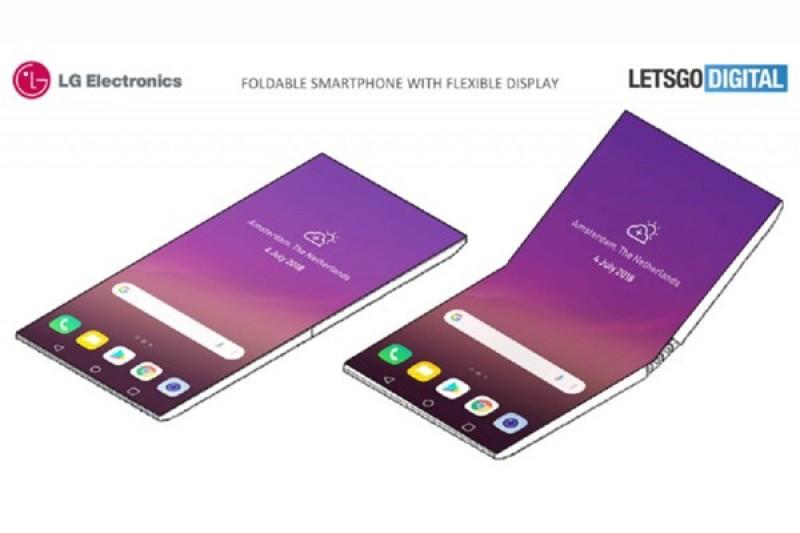 Smartphone màn hình gập của LG tựa như chiếc Surface Book