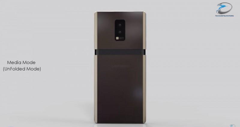 Mãn nhãn bản concept smartphone gập Samsung Galaxy Wing