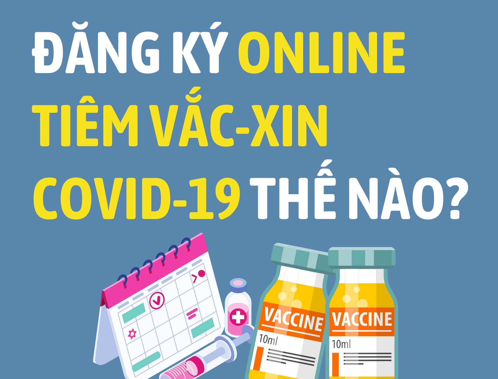 [Infographic] Đăng ký online tiêm vắc xin Covid-19 như thế nào?