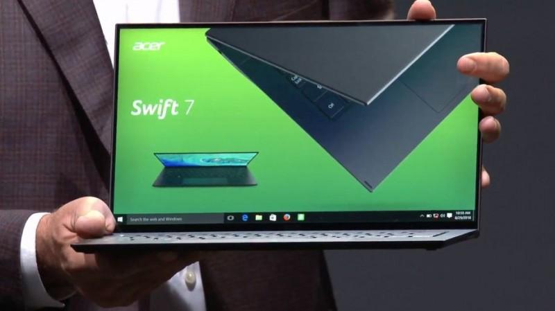 ifa 2018 acer ra mat chiec laptop mong nhat the gioi
