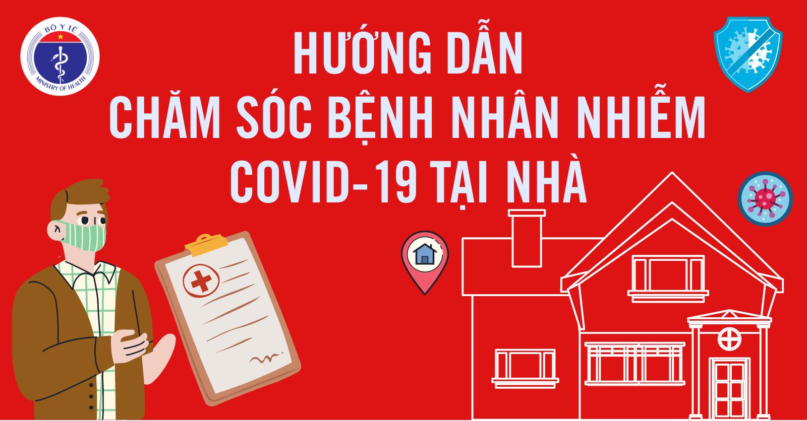 [Infographic] Hướng dẫn chăm sóc bệnh nhân nhiễm Covid-19 tại nhà