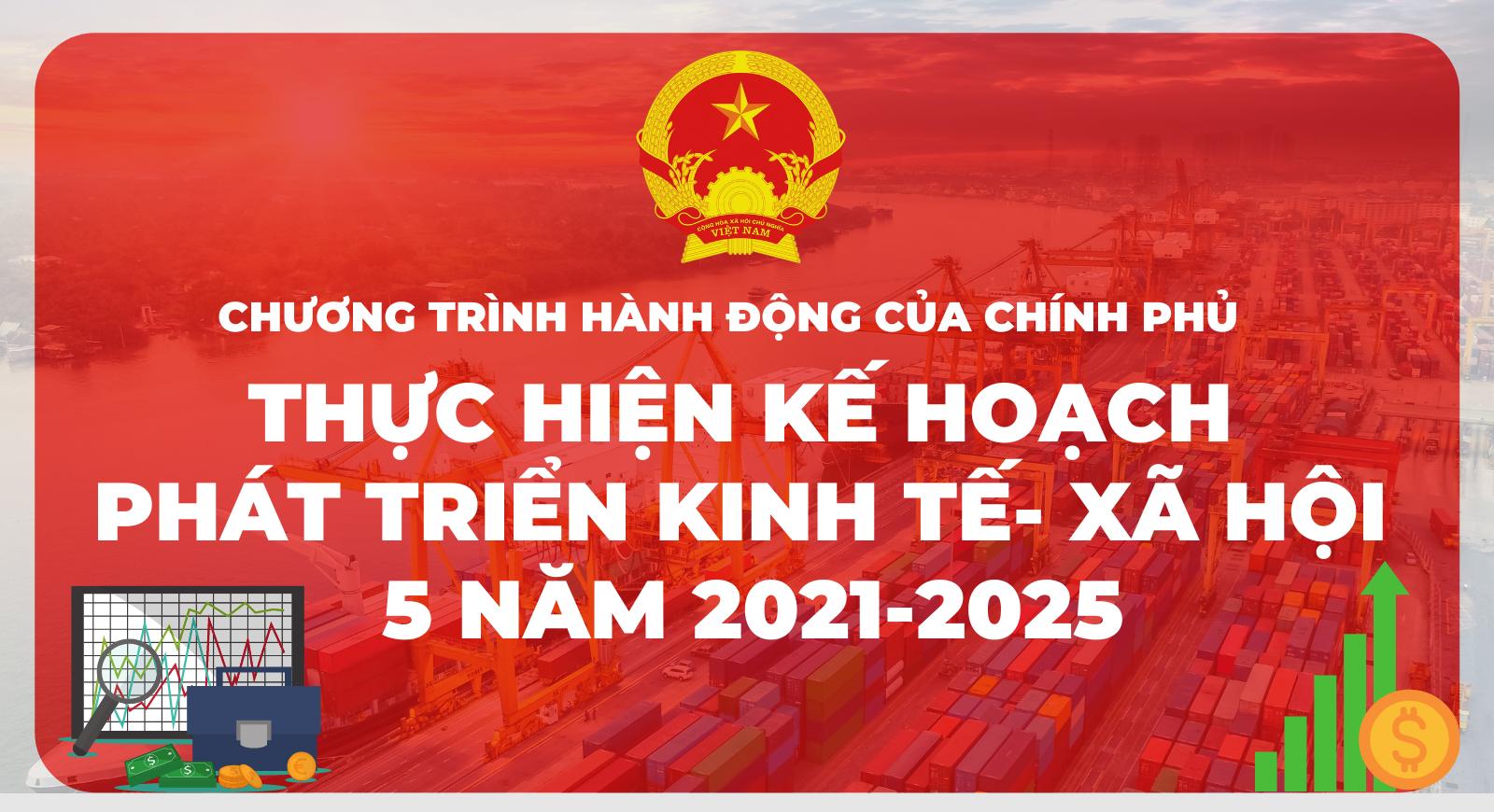 [Infographic] Chương trình hành động của Chính phủ: Thực hiện Kế hoạch phát triển kinh tế - xã hội 5 năm 2021-2025
