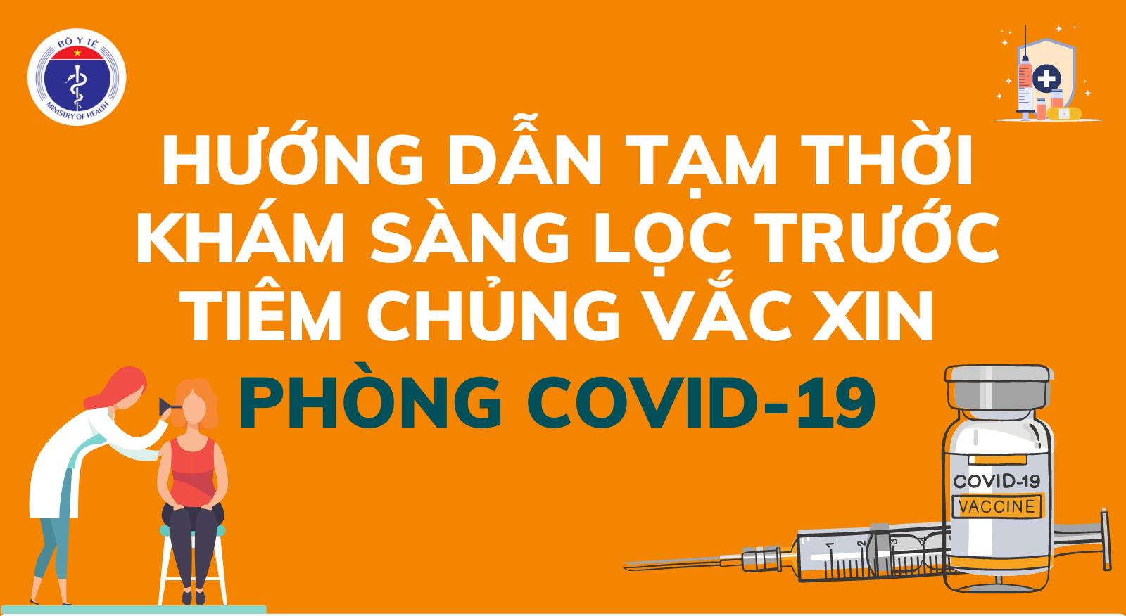 [Infographic] Hướng dẫn khám sàng lọc trước khi tiêm chủng vắc xin phòng Covid-19
