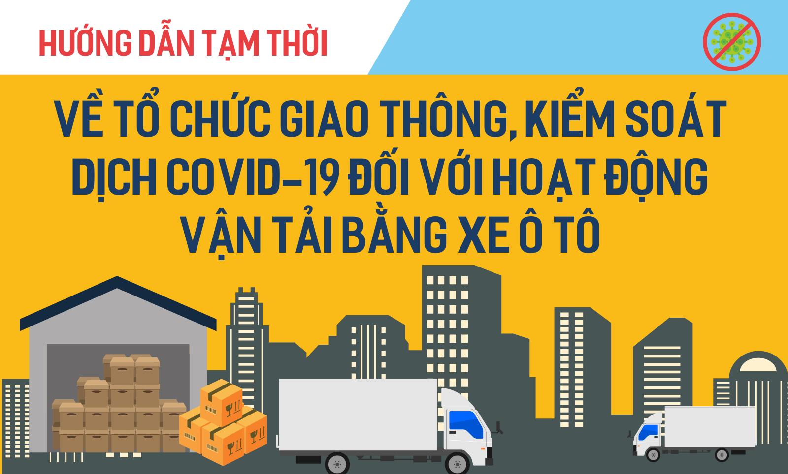 [Infographic] Hướng dẫn tạm thời về tổ chức giao thông, kiểm soát dịch Covid-19 đối với hoạt động vận tải bằng xe ô tô