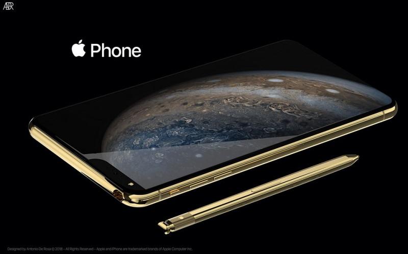 Bản concept cực kỳ ấn tượng của iPhone 2019 với 5 camera, bút Apple Stylus