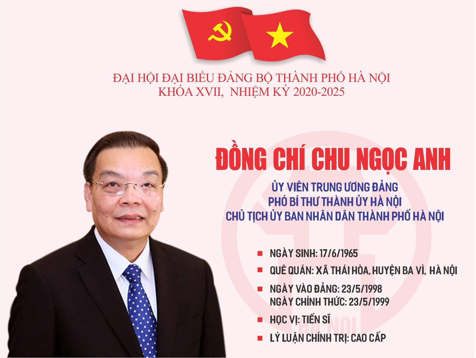 Infographic: Tóm tắt quá trình công tác của Phó Bí thư Thành ủy Hà Nội Chu Ngọc Anh