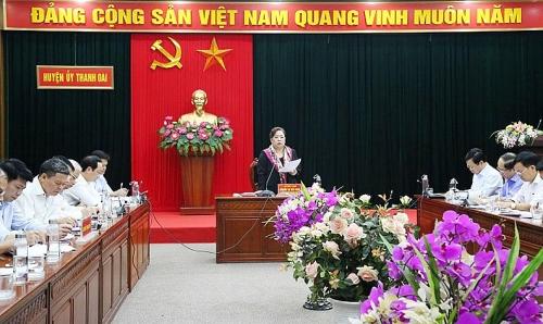 Huyện Thanh Oai đã hoàn thành 11/14 chỉ tiêu Nghị quyết
