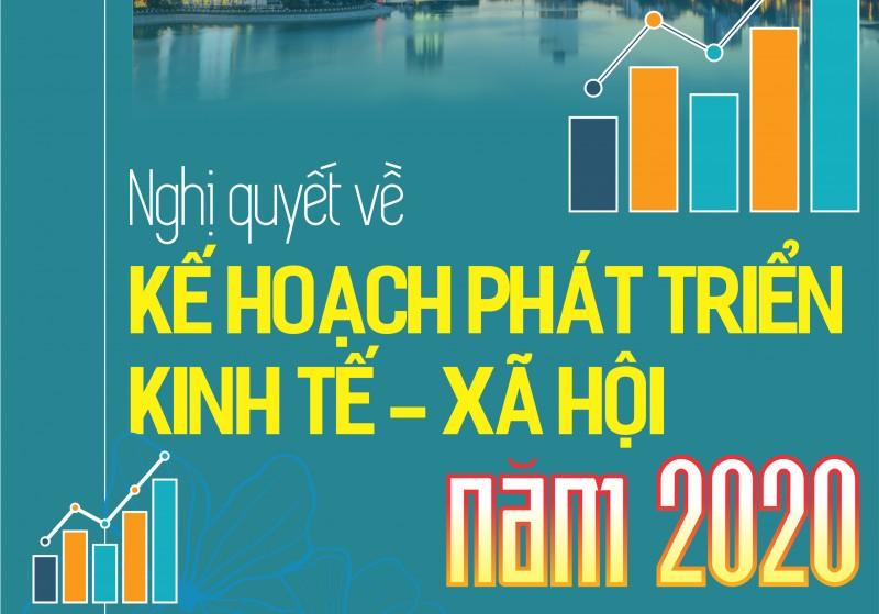 Infographic: Nghị quyết về Kế hoạch phát triển kinh tế - xã hội năm 2020