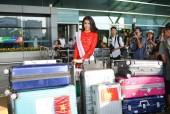 Lệ Hằng mang hơn 200kg hành lý tới Miss Universe 2016