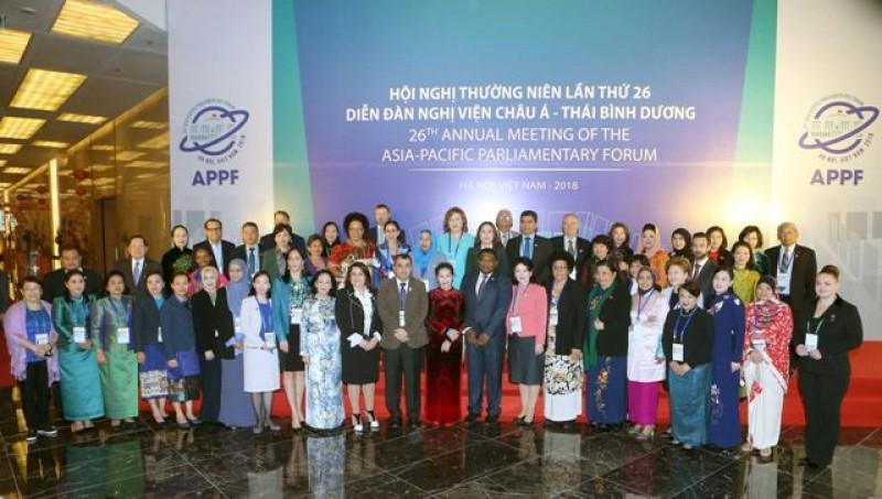 Phiên họp nữ nghị sĩ khai mạc tại Hà Nội
