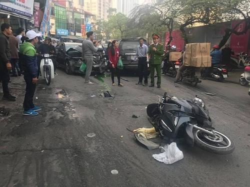 Xe điên 'đại náo' phố Ngọc Khánh, một người tử vong