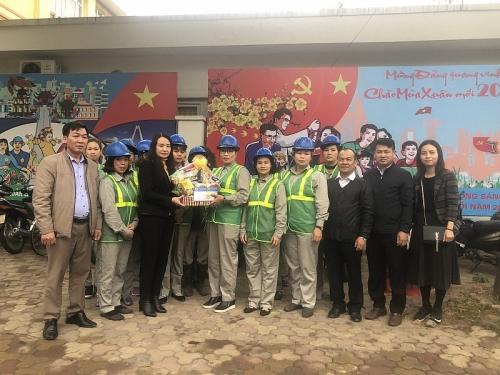 Công đoàn Xây dựng Hà Nội chúc Tết người lao động Công ty Môi trường Tây Đô