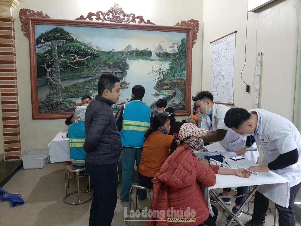 URENCO Hà Nội tổ chức khám sức khỏe cho người lao động tại các địa bàn mới tiếp nhận