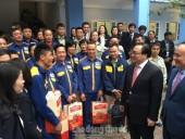 Bí thư Thành ủy Hà Nội Hoàng Trung Hải thăm, chúc Tết công nhân Công ty TNHH MTV Thoát nước Hà Nội