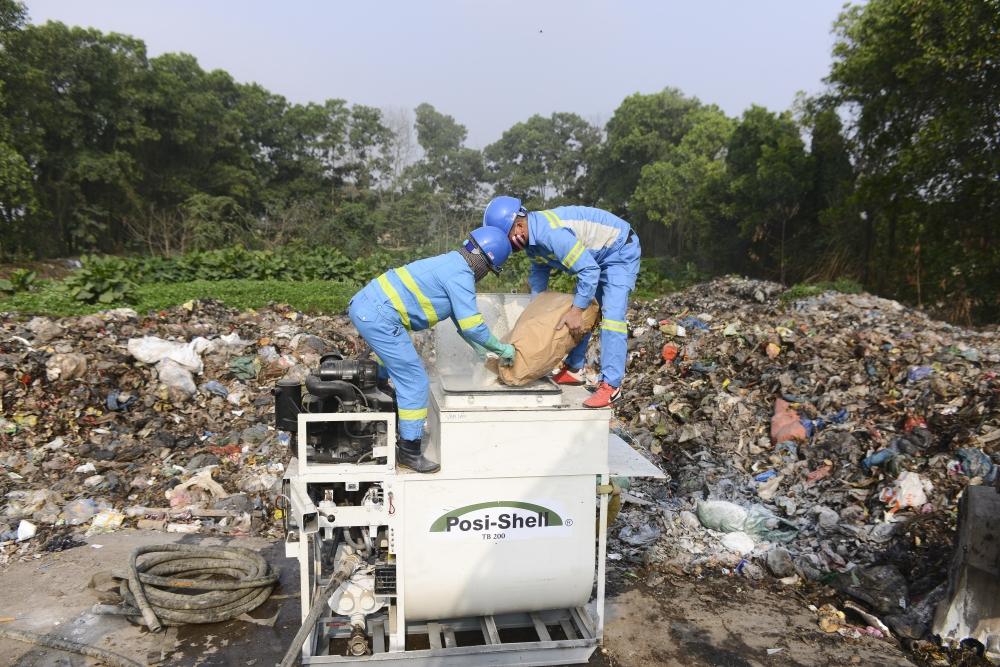 URENCO đảm bảo vệ sinh môi trường tại các điểm rác tồn đọng