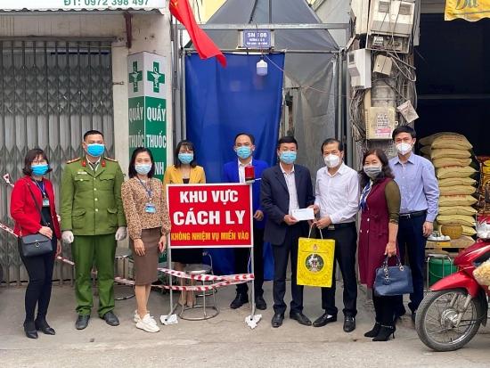 Đoàn viên, người lao động huyện Hoài Đức tích cực tham gia phòng chống dịch Covid-19