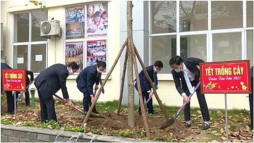 Huyện Hoài Đức phát động trồng cây đầu xuân Tân Sửu 2021
