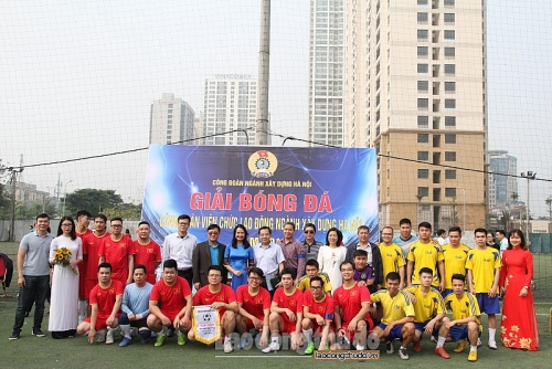 Khai mạc giải bóng đá CNVCLĐ ngành Xây dựng Hà Nội 2019
