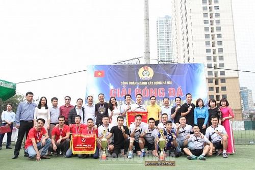 Công ty TNHH MTV Nước sạch Hà Nội vô địch giải bóng đá ngành Xây dựng Hà Nội