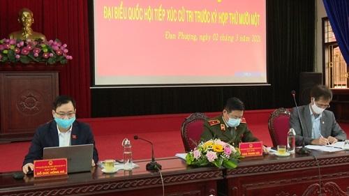 Đoàn đại biểu Quốc hội thành phố Hà Nội tiếp xúc cử tri hai huyện Đan Phượng và Hoài Đức